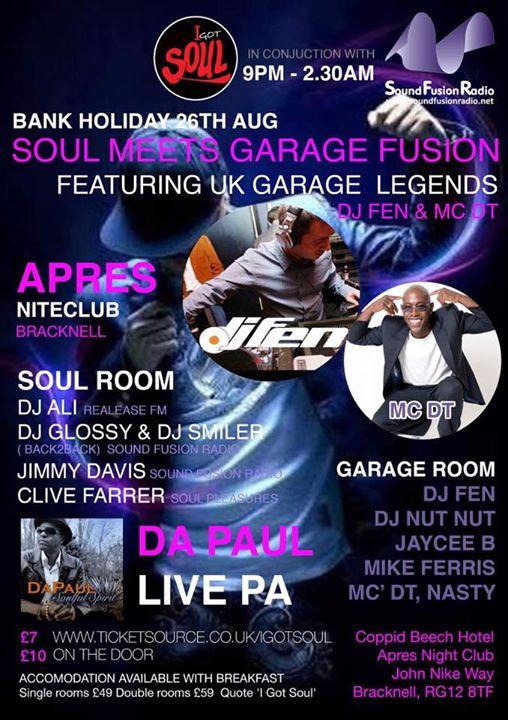 Soul And Garage Fusion Night | Blacknet UK