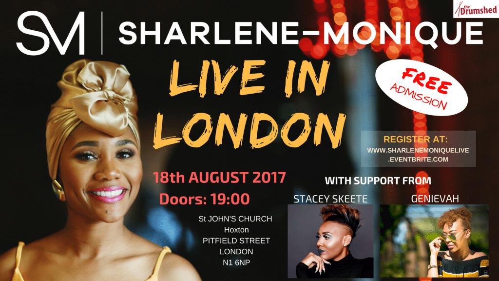 Sharlene-Monique Live in London | Blacknet UK
