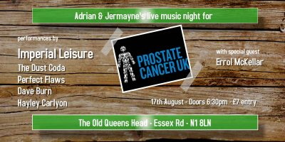 Adrian & Jermayne's live music night for Prostate Cancer UK | Blacknet UK