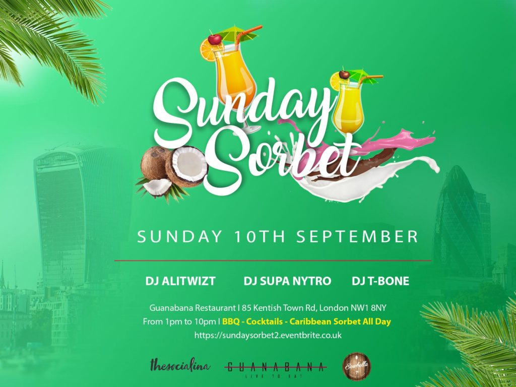 Sunday Sorbet - All Day Caribbean Party - After Carnival Edition | Blacknet UK