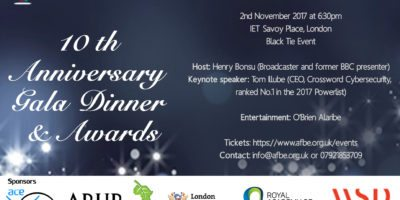 Association for Black and Minority Ethnic Engineers 10th Anniversary Gala Dinner | Blacknet UK
