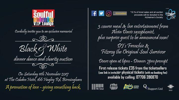 06b091b2146a5 V.I.P Lounge Black   White Special Charity Dinner   Dance - Blacknet UK