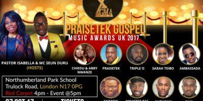 PRAISETEK GOSPEL MUSIC AWARDS (PGMA) 2017   Blacknet UK