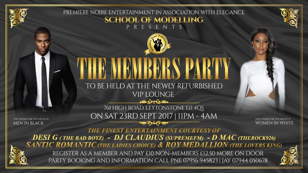 Premiere Noire Entertainment 'Members Party' | Blacknet UK