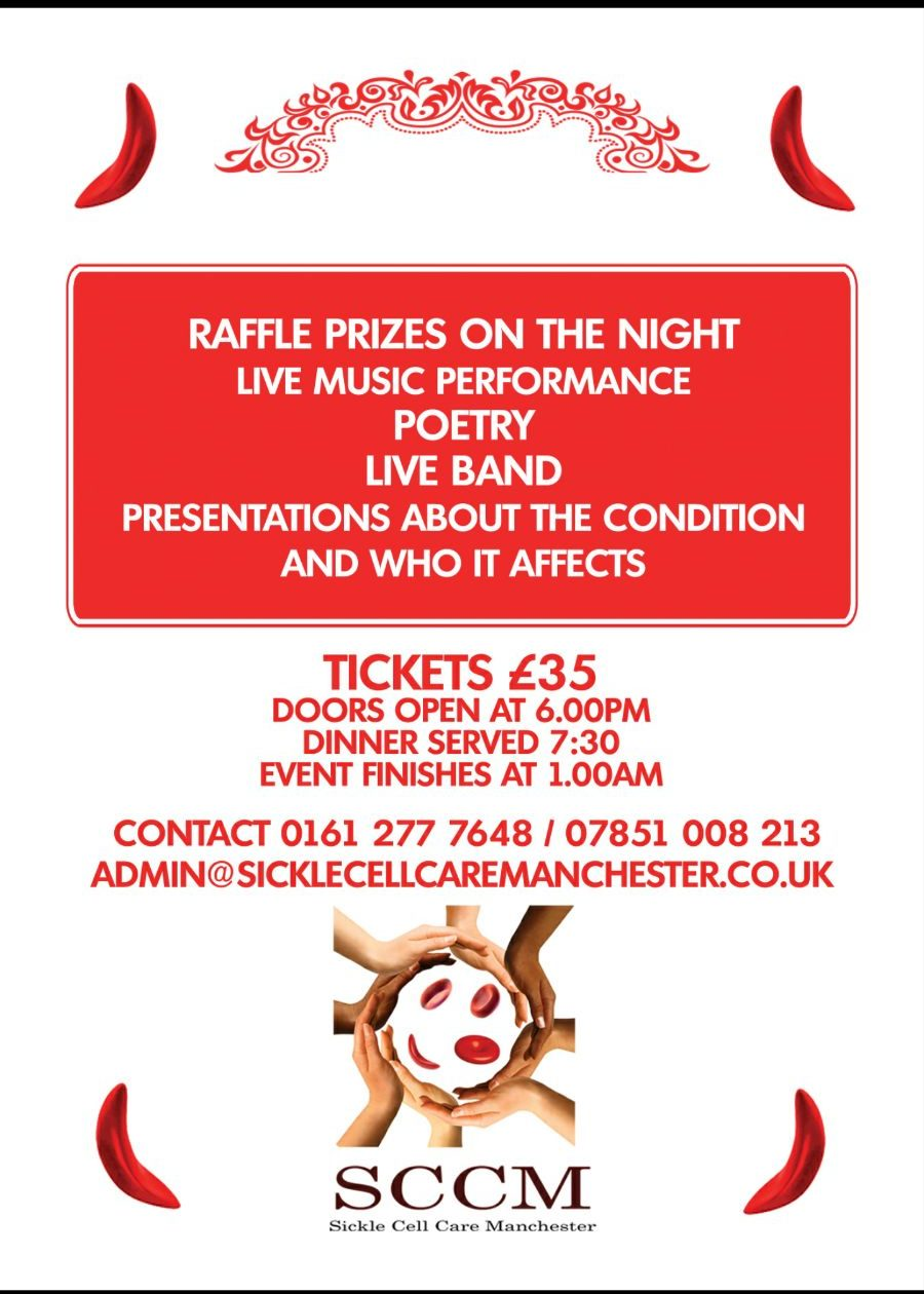 Sickle Cell Care Manchester (SCCM) Fundraising Dinner