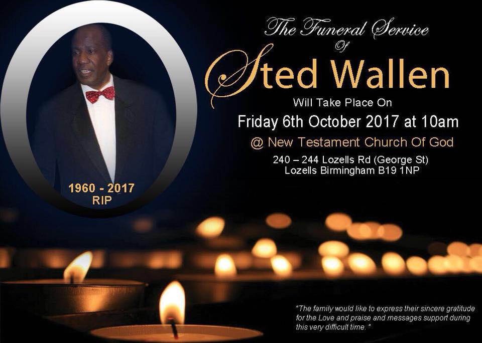 The Funeral Service of STED WALLEN | Blacknet UK