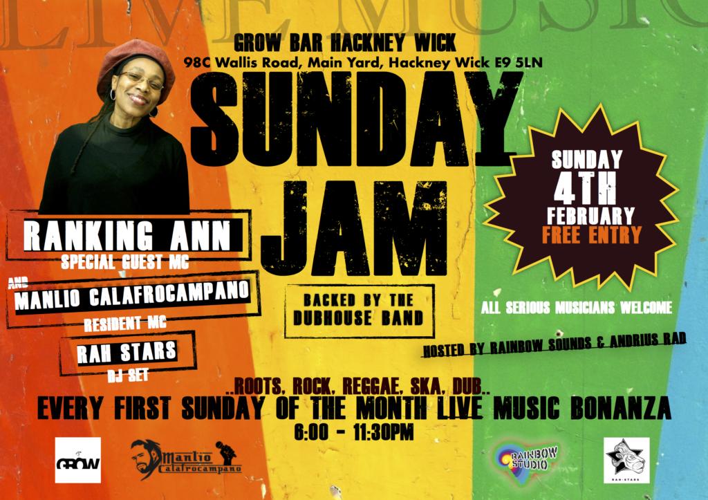 Ranking Ann Live! Reggae Sunday Jam - Blacknet UK