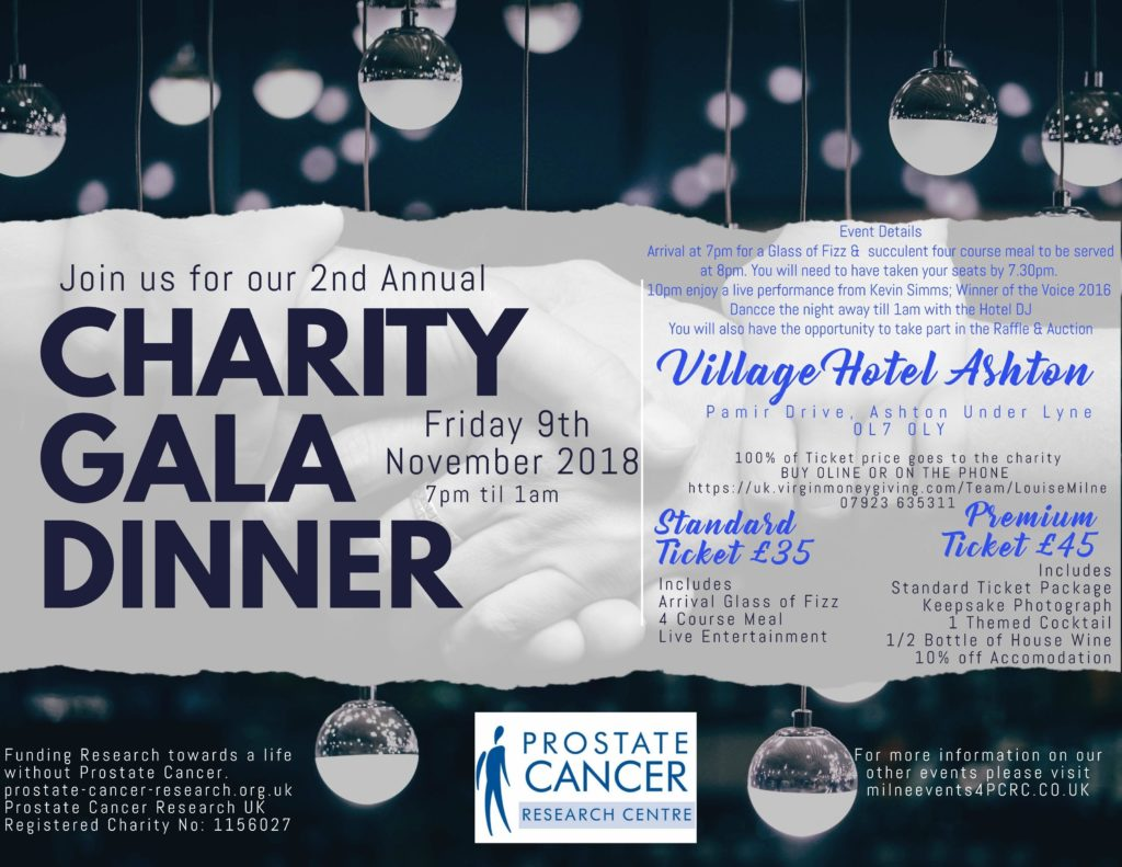 Charity Gala Dinner for Prostate Cancer Research Centre