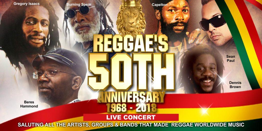 Reggae Music 50th Anniversary 1968-2018 - Blacknet UK