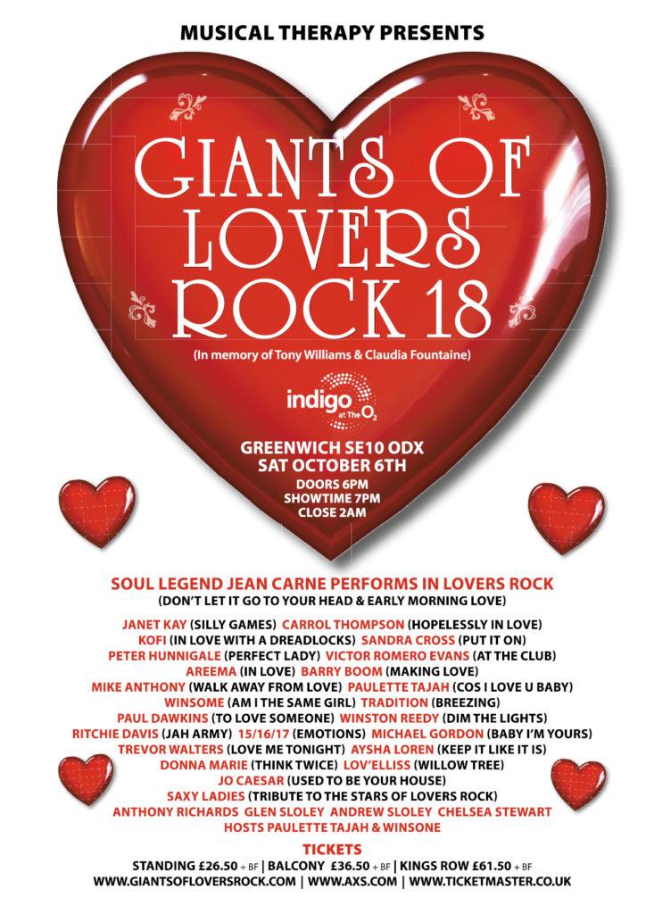 New Giants of Lover Rock 2018