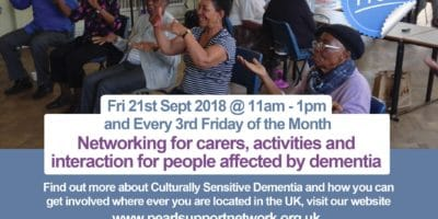 Culturally Sensitive Memory Cafe Sept 21st 2018 Birmingham