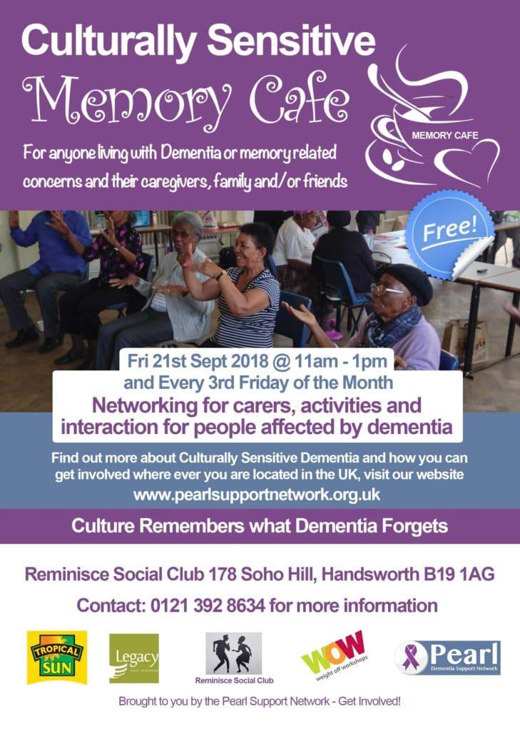Culturally Sensitive Memory Cafe Sept 21st 2018 Birmingham