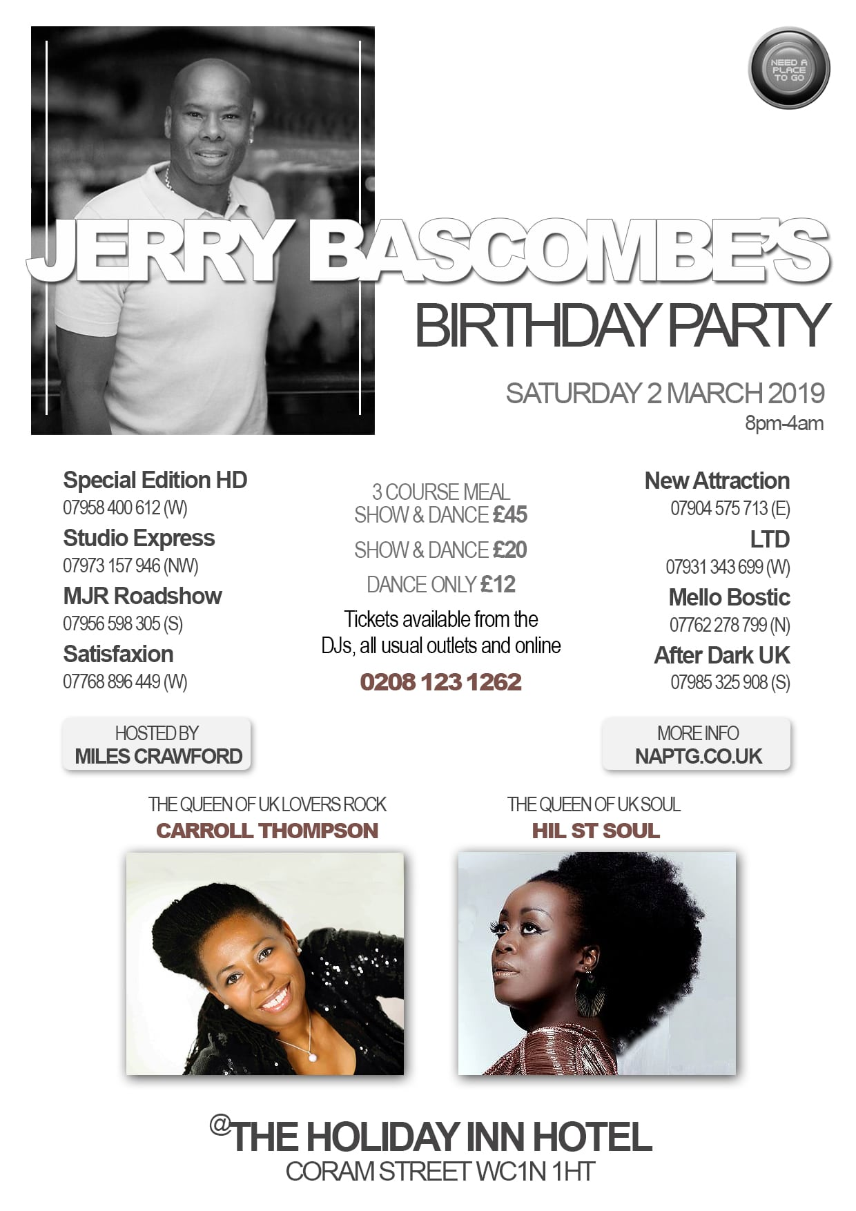 You're invited to Jerry Bascombe's Birthday Party 2019