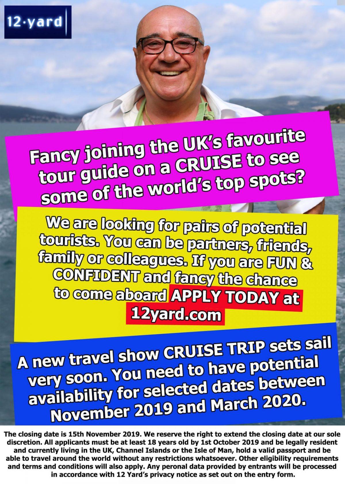 New travel show CRUISE TRIP sets sail very soon.