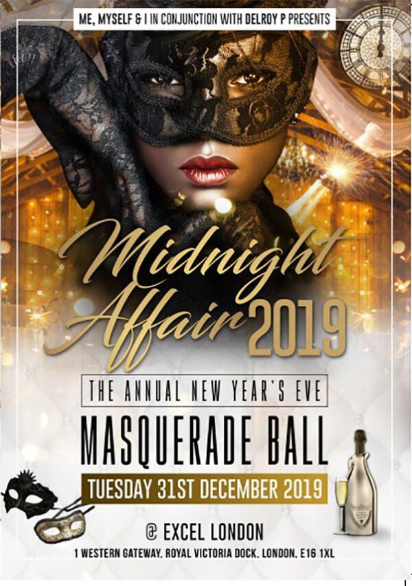 Midnight Affair - 31st Dec 2019 Excel London Masquerade Ball